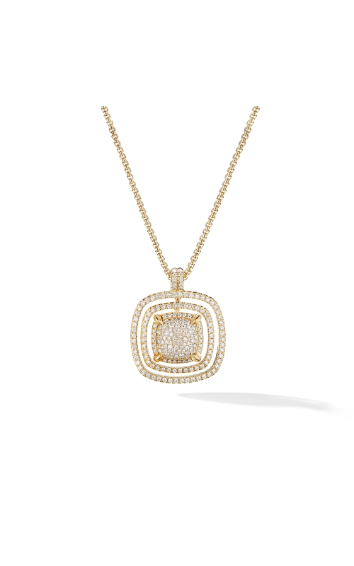 Chatelaine® Full Pavé Statement Pendant in 18K Yellow Gold product image