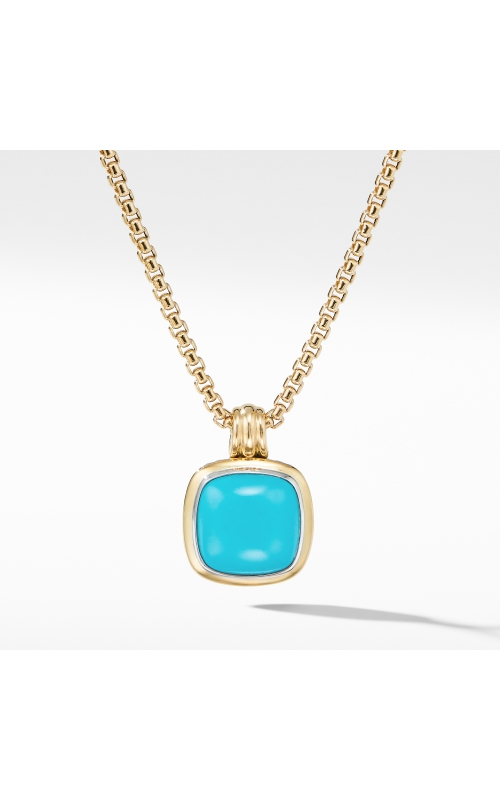 Albion® Pendant with Reconstituted Turquoise and 18K Yellow Gold product image
