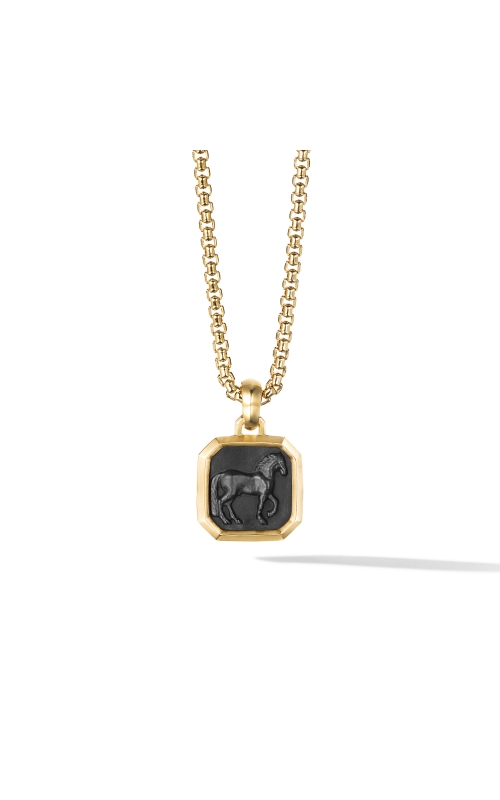 Petrvs® Horse Pendant with Black Onyx and 18K Yellow Gold product image
