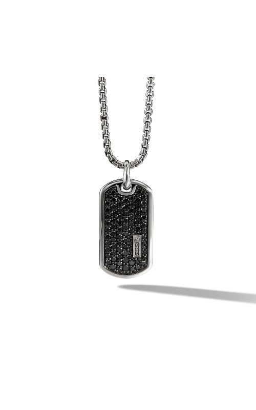 Pave Tag with Black Diamonds product image