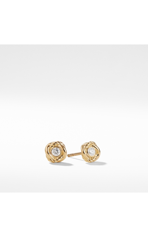 Infinity Earrings with Diamonds in Gold product image