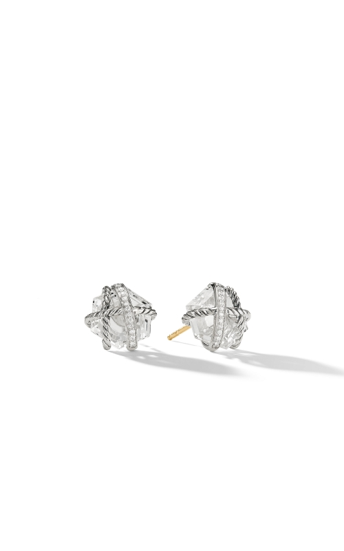 Cable Wrap Earrings with Crystal and Diamonds product image