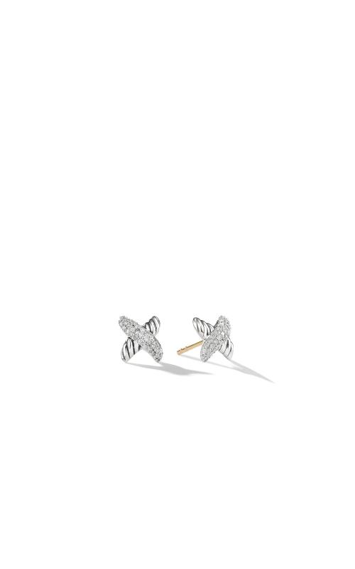 X Earrings with Diamonds product image