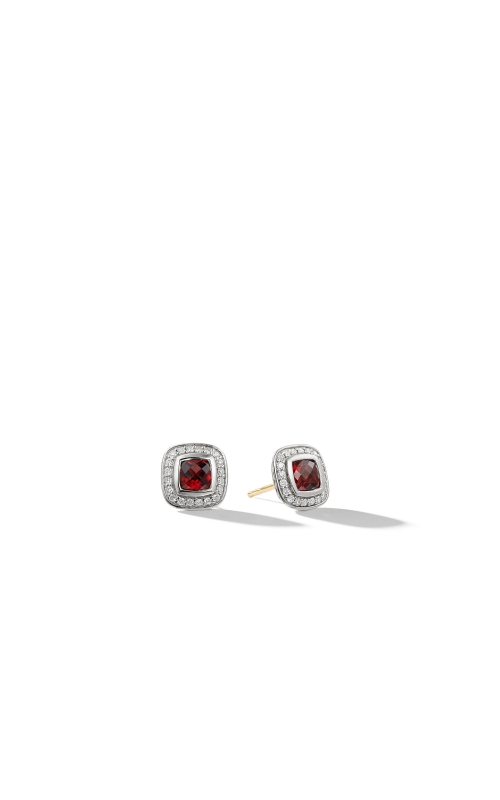 Petite Albion Earrings with Garnet and Diamonds product image