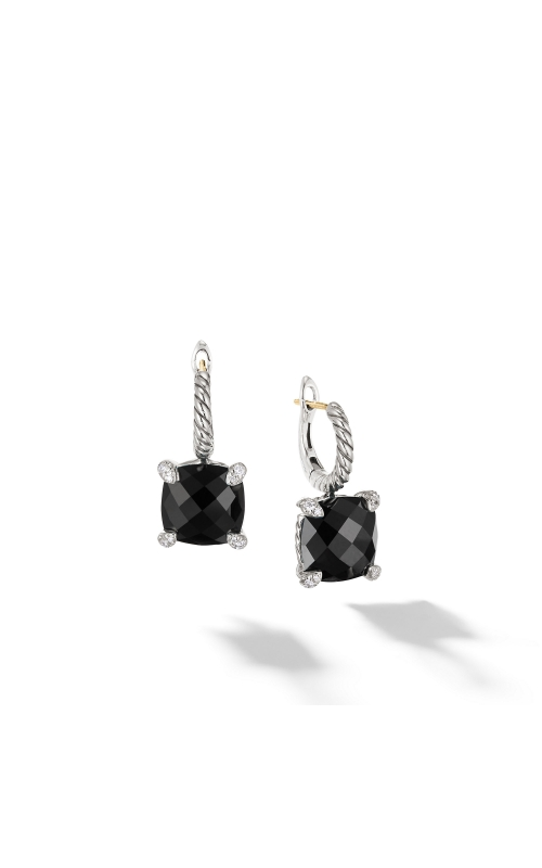 Chatelaine® Drop Earrings with Black Onyx and Diamonds product image