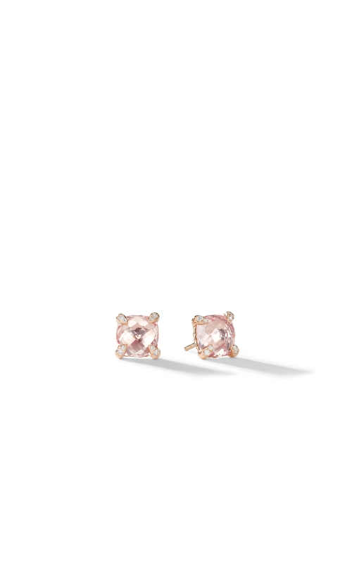 Chatelaine® Stud Earrings with Morganite and Diamonds in 18k Rose Gold product image