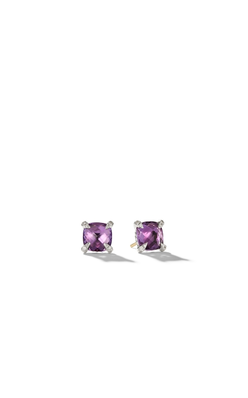 Earrings with Amethyst and Diamonds product image