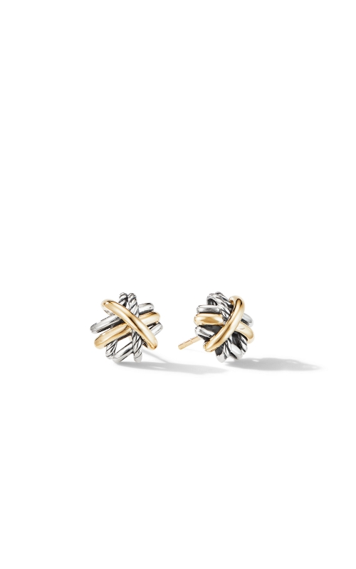 Crossover Stud Earrings with 18K Yellow Gold product image