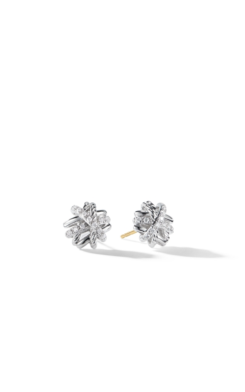 Crossover Earrings with Diamonds, product image