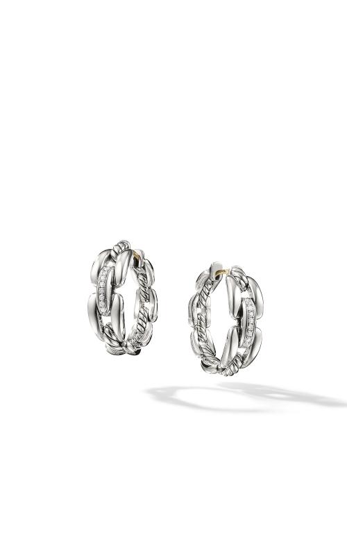 Wellesley Hoop Earrings with Diamonds, 23mm product image