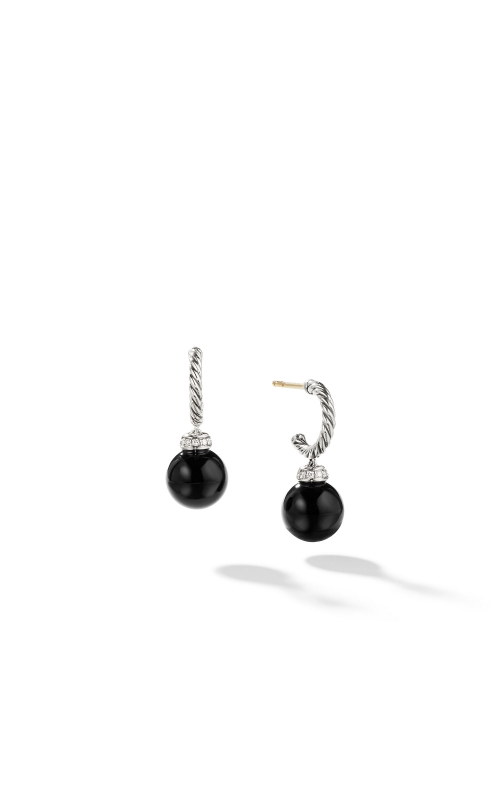 Solari Hoop Earrings with Diamonds and Black Onyx product image