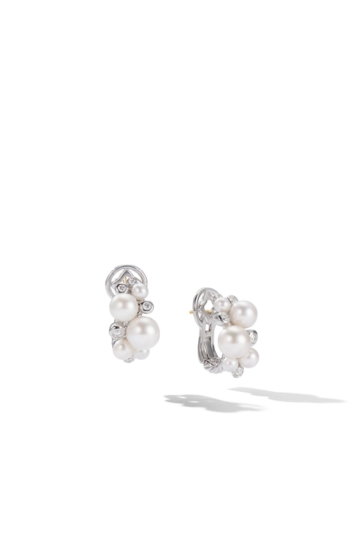 Pearl Cluster Earring with Diamonds product image