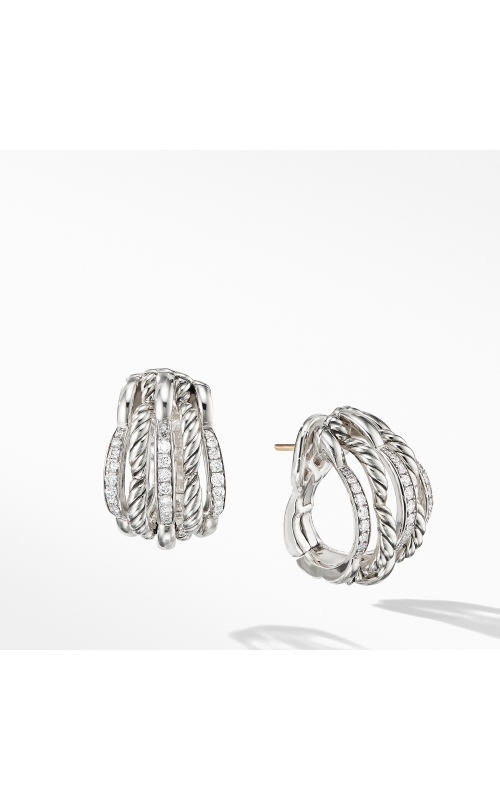 Tides Shrimp Earrings with Diamonds product image