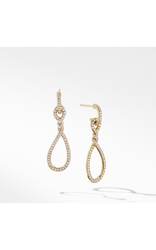 Continuance® Full Pavé Small Drop Earrings in 18K Yellow Gold product image