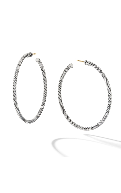 Large Cable Hoop Earrings product image