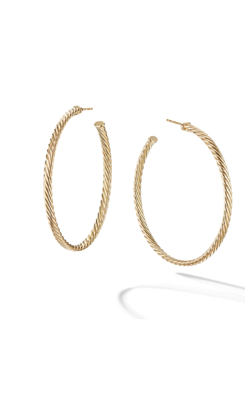 Large Cablespira Hoop Earrings in 18K Yellow Gold product image