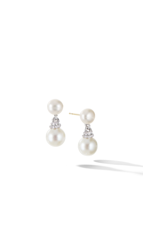 Continuance® Pearl Drop Earrings with Diamonds product image
