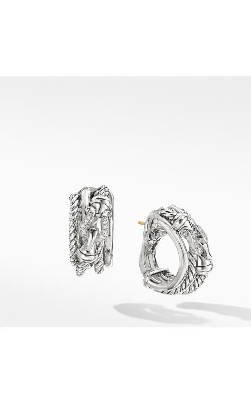 Buckle Shrimp Earrings with Diamonds product image
