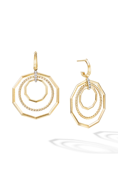 Stax Extra-Large Drop Earrings in 18K Yellow Gold with Diamonds product image
