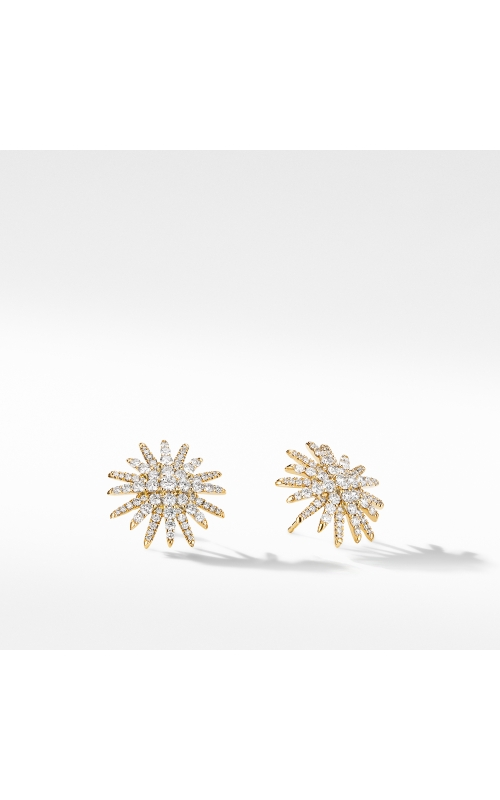 Starburst Stud Earrings in 18K Yellow Gold with Pavé Diamonds product image