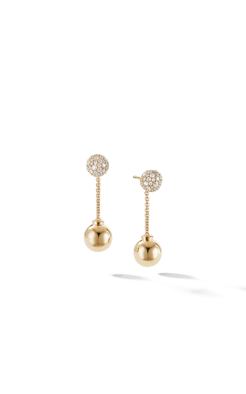 Solari Chain Drop Earring in 18K Yellow Gold with Diamonds product image