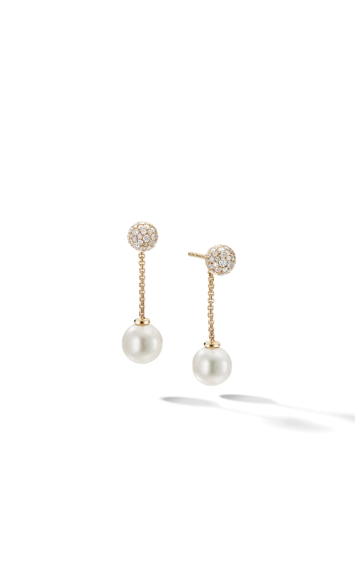 Solari Chain Drop Earring in 18K Yellow Gold with Pearls and Diamonds product image