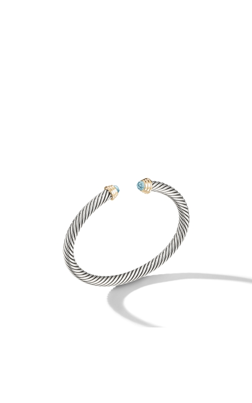 Cable Kids® Birthstone Bracelet with Aquamarine and 14K Gold, 4mm product image