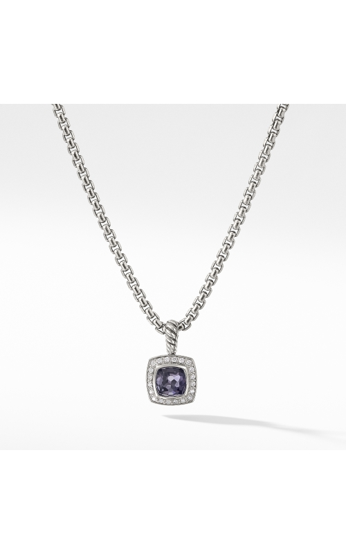 Petite Albion® Pendant Necklace with Black Orchid and Diamonds product image