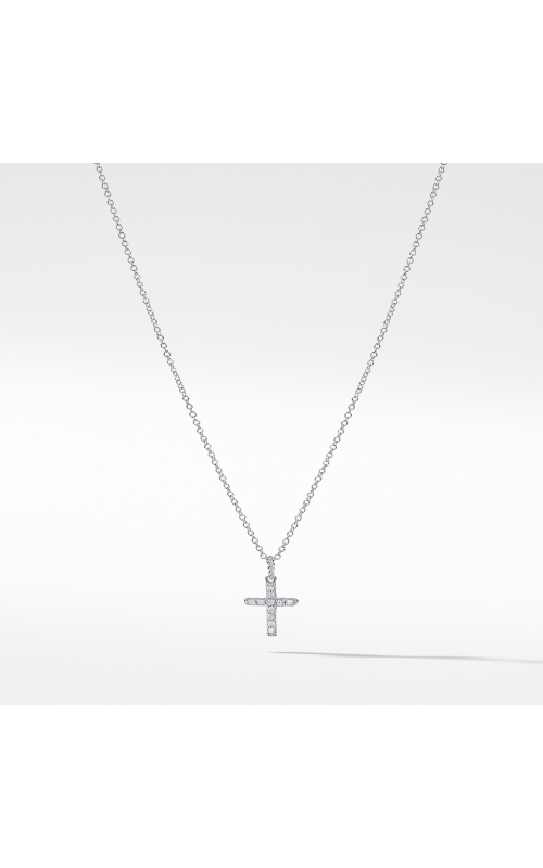 Cable Collectibles Cross Necklace with Diamonds in 18K Gold product image