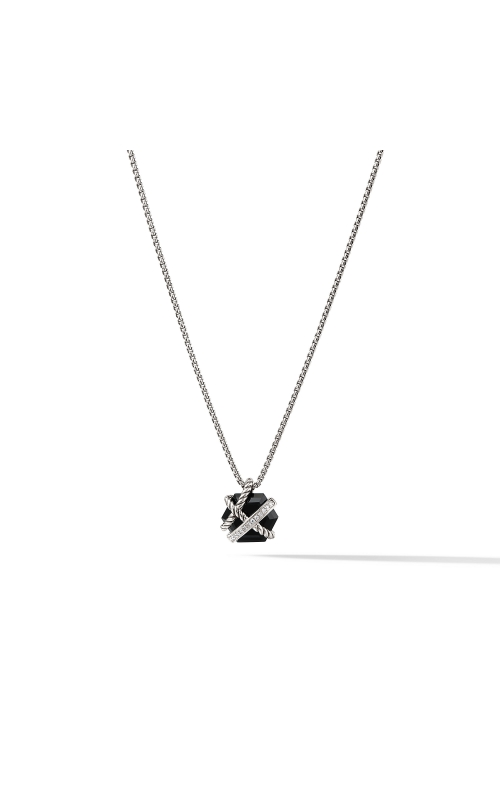 Cable Wrap Necklace with Black Onyx and Diamonds product image
