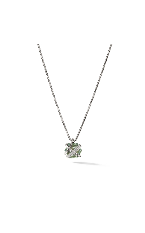 Cable Wrap Necklace with Prasiolite and Diamonds product image