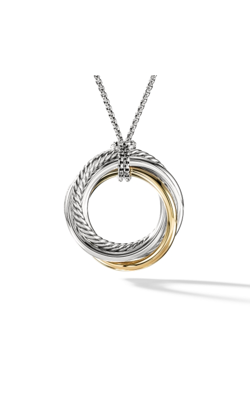 Crossover Pendant Necklace with Gold product image