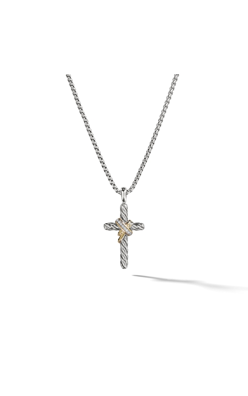 Cable Collectibles X Cross Necklace with Diamonds and 14K Gold product image