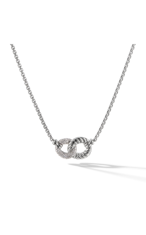 Belmont® Double Curb Link Necklace with Diamonds product image
