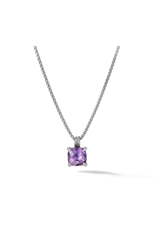 Pendant Necklace with Amethyst and Diamonds product image