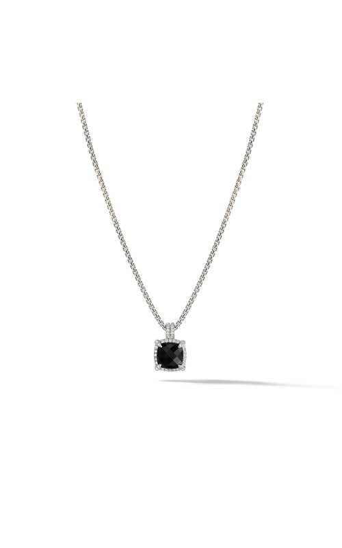 Châtelaine Pave Bezel Pendant Necklace with Black Onyx and Diamonds mm product image