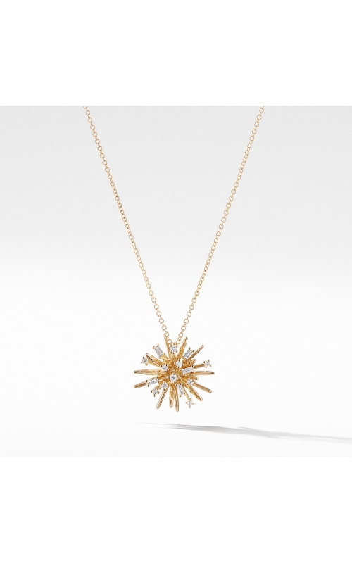 Supernova Small Pendant Necklace with Diamonds in 18K Gold product image