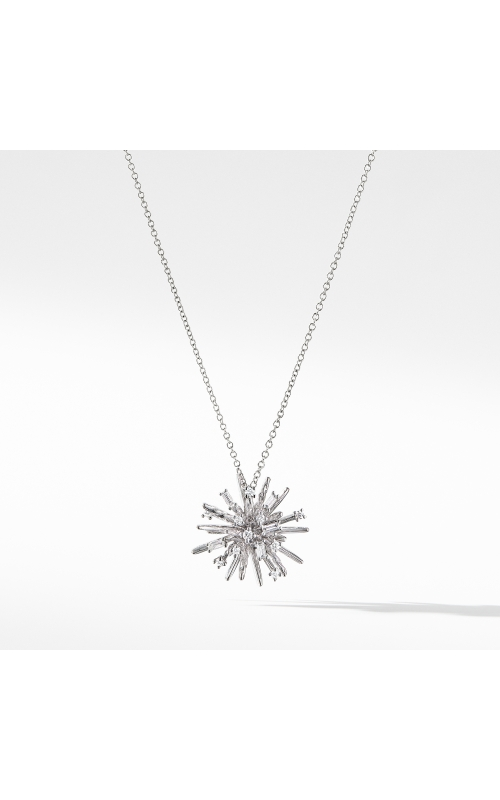 Supernova Small Pendant Necklace with Diamonds in 18K White Gold product image
