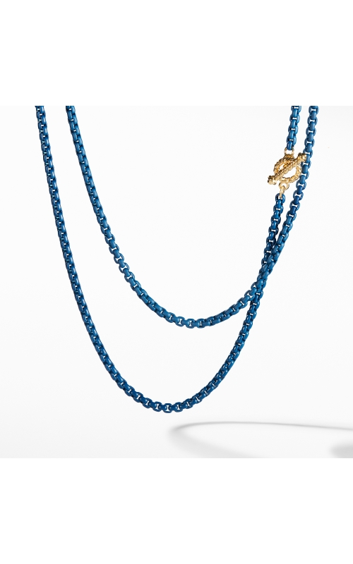 DY Bel Aire Chain Necklace in Navy with with 14K Gold Accents product image