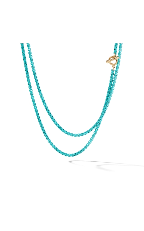 DY Bel Aire Chain Necklace in Turquoise with 14K Gold Accents product image
