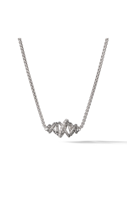 Crossover Single Station Necklace  with Diamonds product image