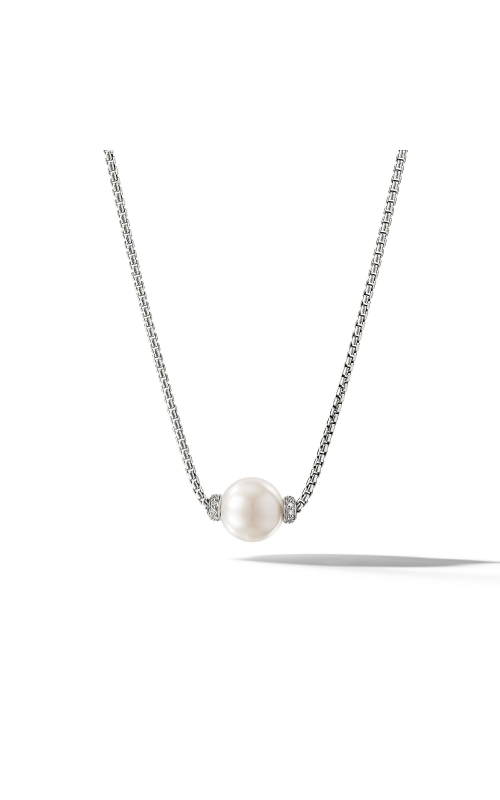 Solari Pendant Necklace with Diamonds and Freshwater Pearl product image