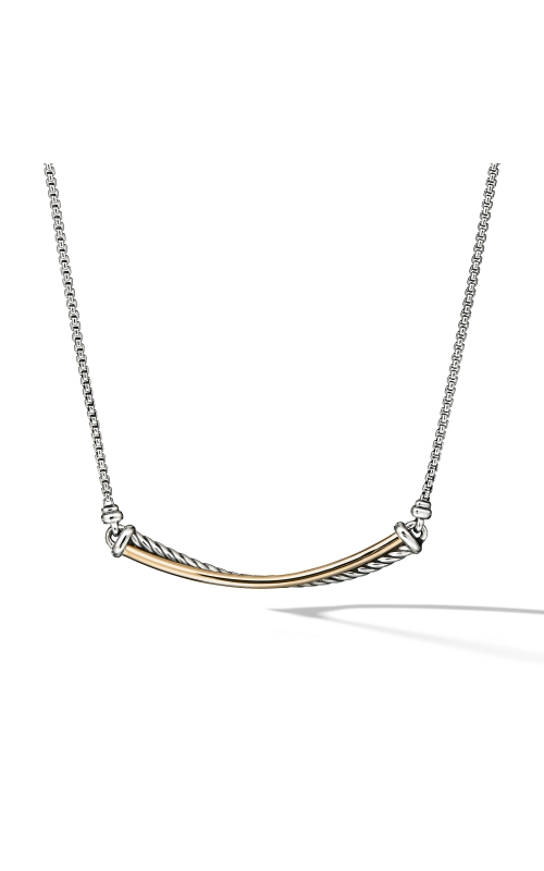 Crossover Bar Necklace with 18K Gold product image