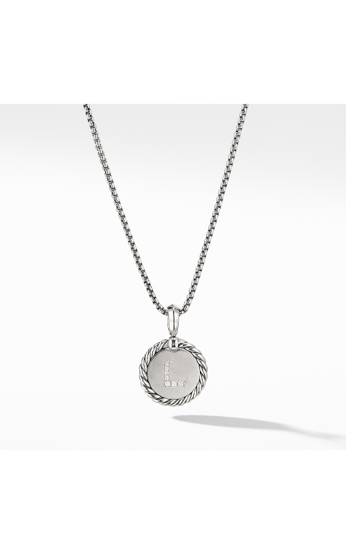 Initial Charm Necklace with Diamonds product image
