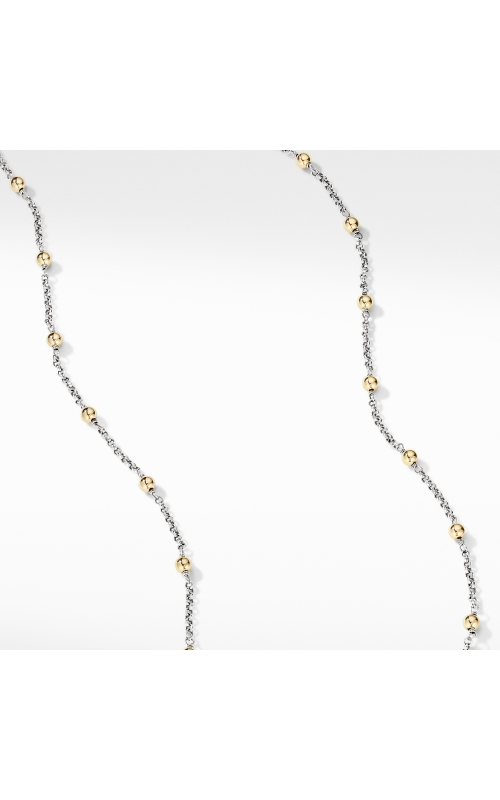Cable Collectibles® Bead and Chain Necklace with 18K Yellow Gold Domes product image