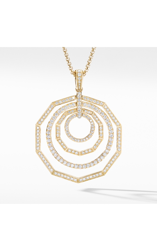 Stax Full Pavé Pendant Necklace in 18K Yellow Gold product image