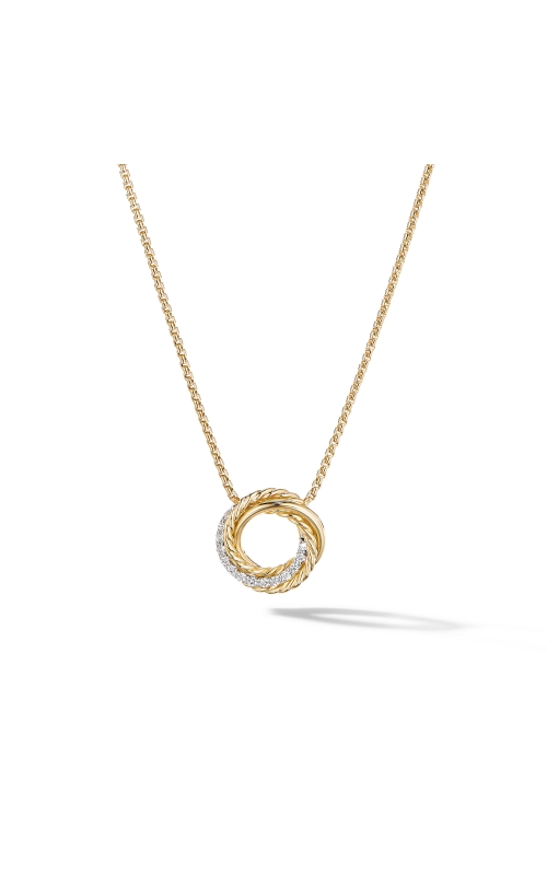The Crossover Collection® Mini Pendant Necklace in 18K Yellow Gold with Diamonds product image