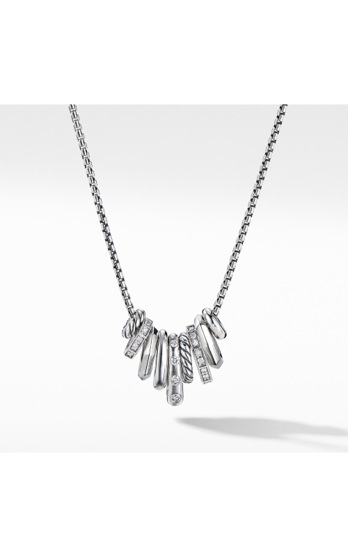 Stax Rondelle Pendant Necklace with Diamonds product image