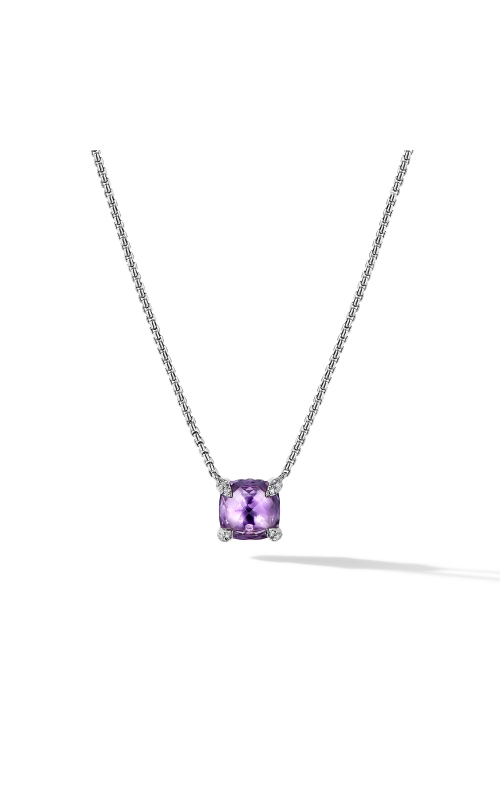 Chatelaine® Pendant Necklace with Amethyst and Diamonds product image