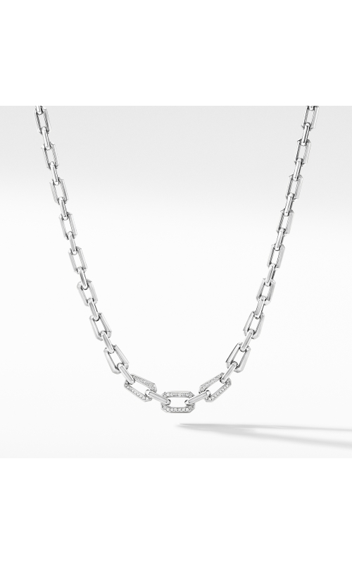 Novella Chain Necklace with Pavé Diamonds product image